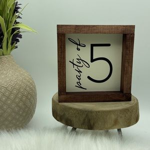 Party of 2 3 4 5 mini wood sign customize